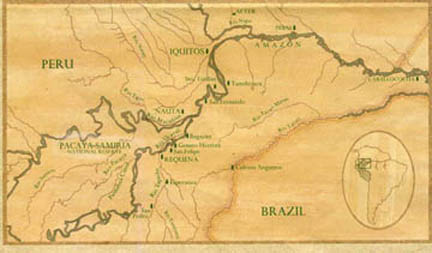 Cool map of the Amazon basin